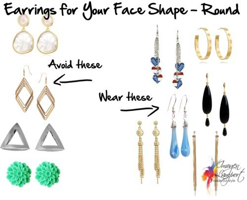 earrings for round face shape