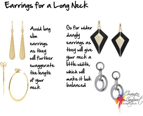 earrings for a long neck