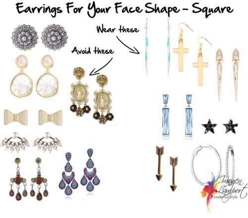 Earrings for your face shape - square