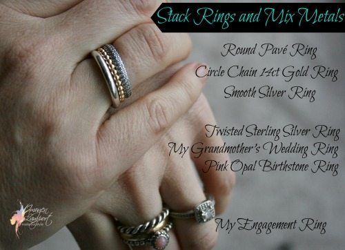 stack rings and mix metals