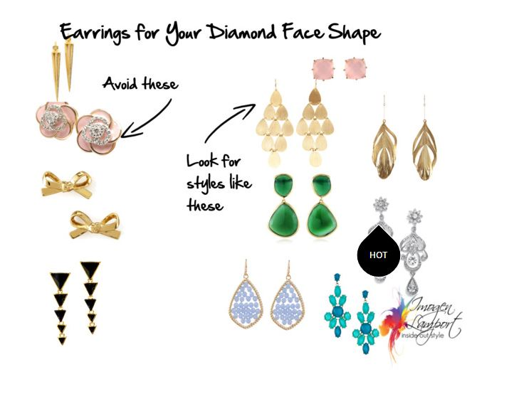 A Diamond Face Shape Has Narrow Forehead And Jaw With The Widest Part Of At Cheekbones You Will Want To Balance Your Earrings