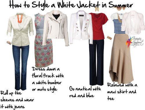How to Style a White Jacket for Summer