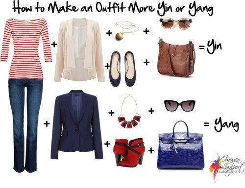 How to Make a casual outfit more yin or yang