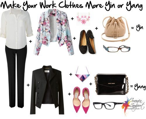 make your work outfit more yin or yang