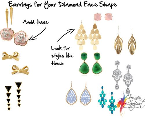 Earrings for Your Face Shape – Diamond