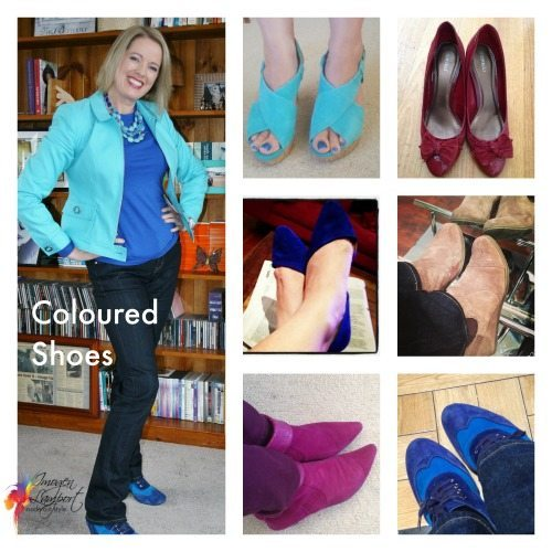 Coloured statement shoes - relate the colour to your outfit
