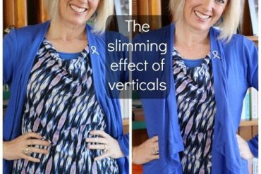 Discover how to use the slimming effect of verticals in your outfits to look taller and slimmer