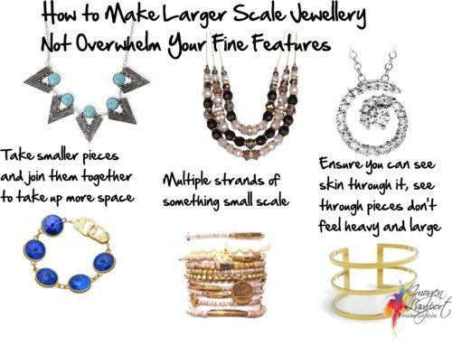 Make Large Scale Jewellery Work for Petites