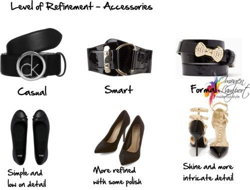 level of refinement for accessories