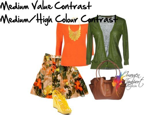medium value medium high colour contrast