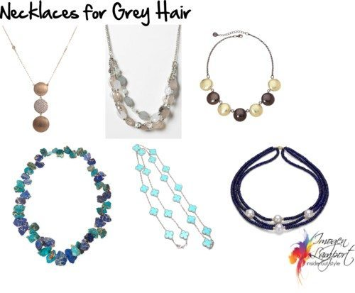 necklaces for grey hair