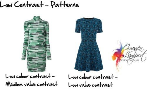 low contrast patterns