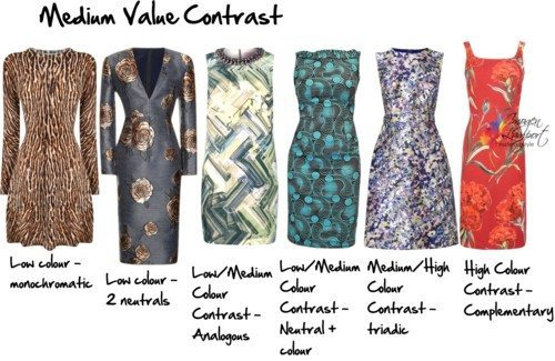 medium value contrast patterns