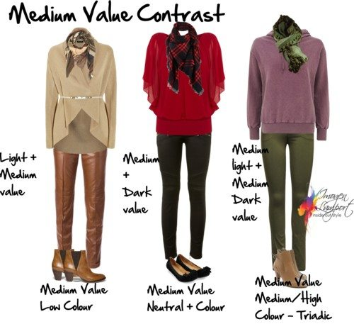 Medium value contrast