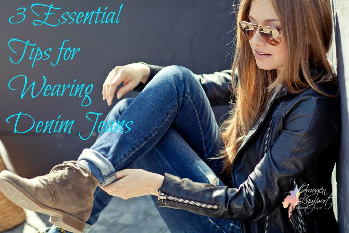 3 Essential Tips for Wearing Denim Jeans - how to interpret jeans styles, and how to dress them up and down