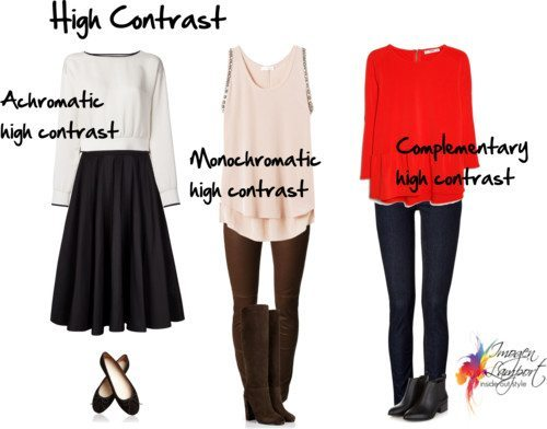 contrast clothing