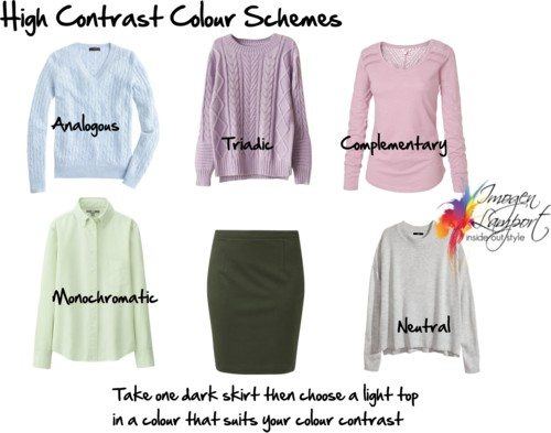 high contrast colour schemes
