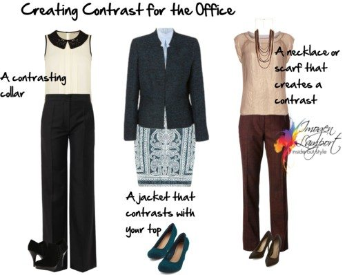 creating contrast for the office
