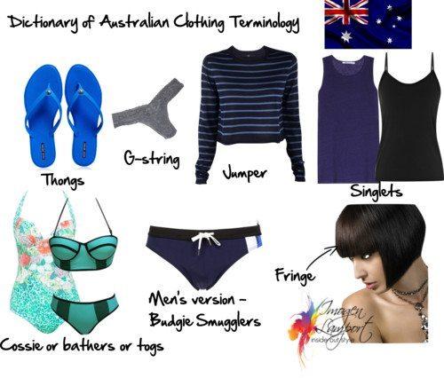 Dictionary Of Australian Clothing Terminology