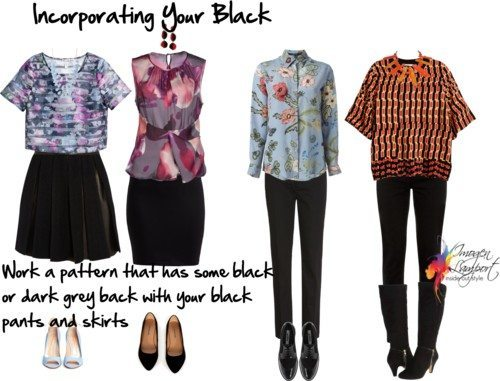 3 Ways to Incorporate Black Garments When It's Not Your Best Colour