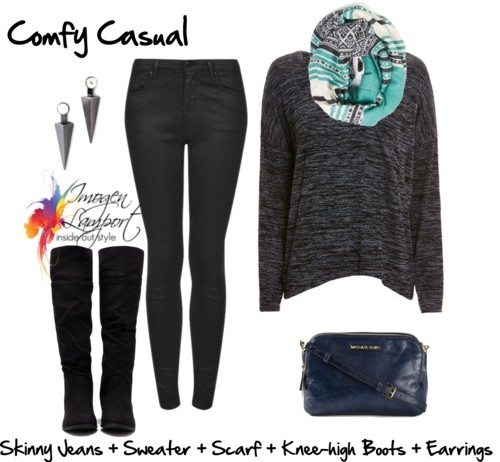 comfy casual outfit ideas black skinnyjeans