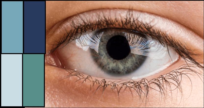 Cool teal eye