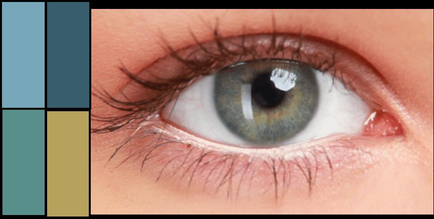Warm teal eye