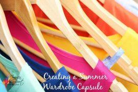 summer wardrobe capsules, column of colour