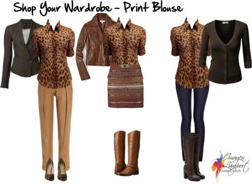 shop your wardrobe print blouse
