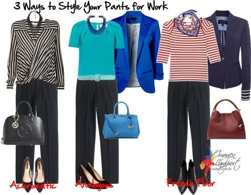 3 ways to style black pants for work