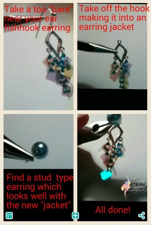changing a hook earring to a stud