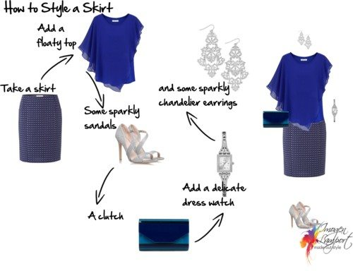 how to style a skirt for evening