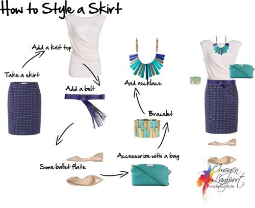how to style a skirt