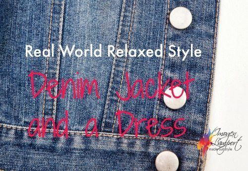 styling a denim jacket and dress