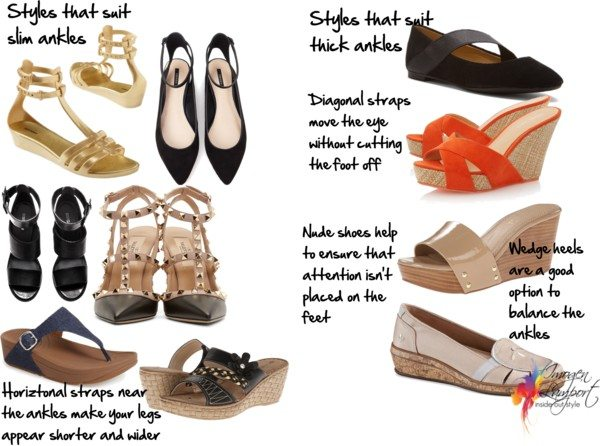 shoe styles to suit thick ankles