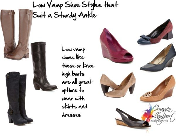 low vamp shoes thick ankles