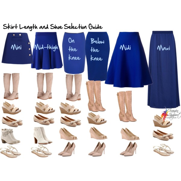 How to choose shoes to go with the length of your skirt