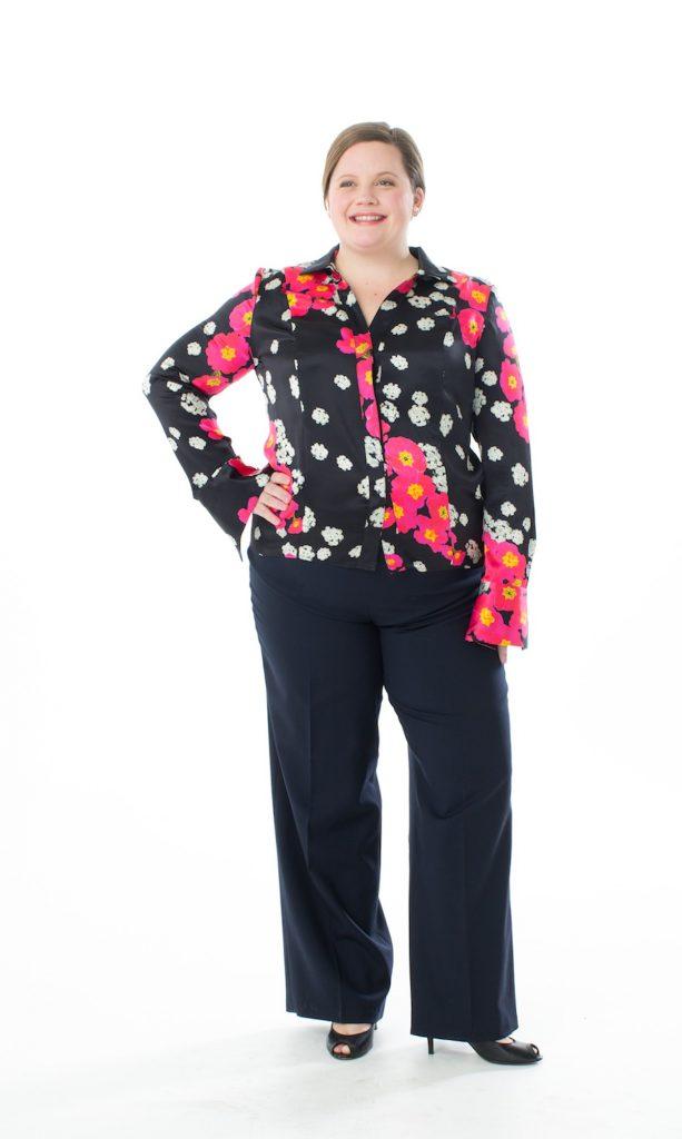 Plus size H shape princess seam shirt