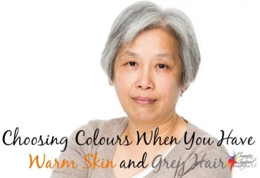 How to choose colours when you have warm skin and grey hair