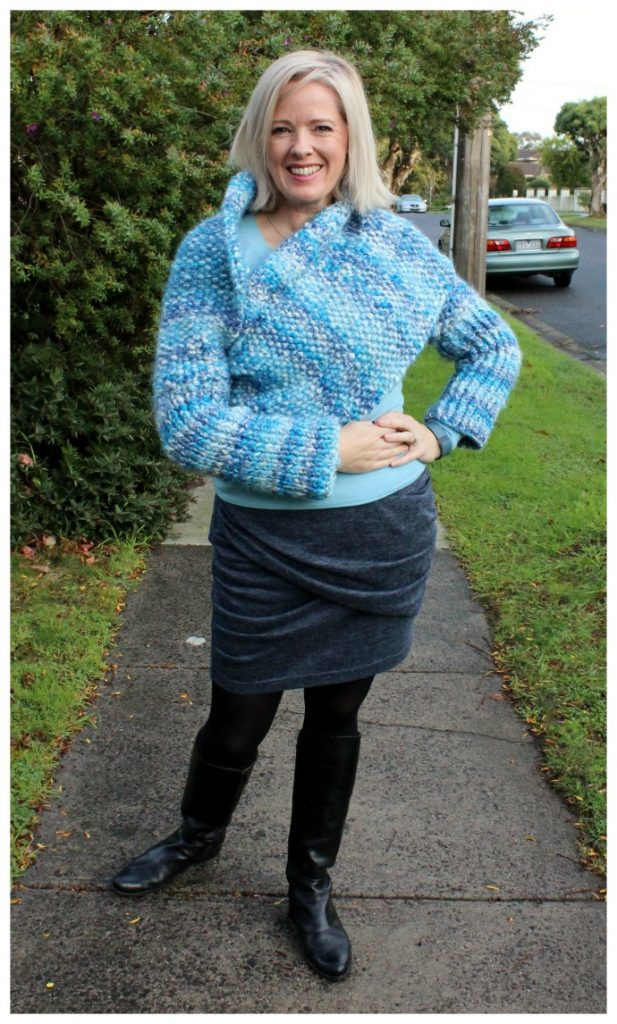 Wrap scarf with sleeves - winter layers