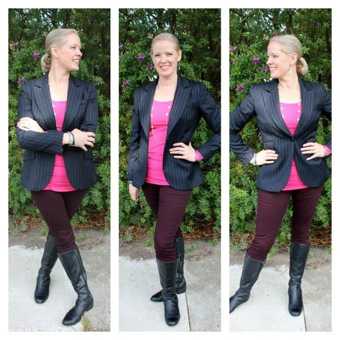 Wear a blazer equestrian style