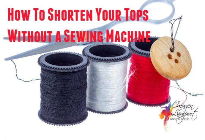 How to shorten your tops without a sewing machine