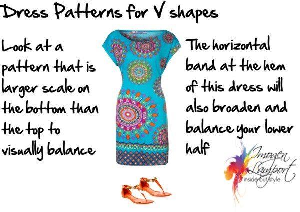 Dress pattern for V shape