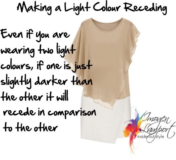 how to make a light colour recede