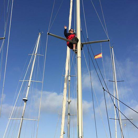Ruth up the mast