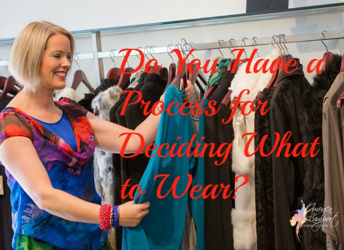 Do you have a process for deciding what to wear - discover Jill Chivers and Imogen Lamport's process for deciding what to wear each day