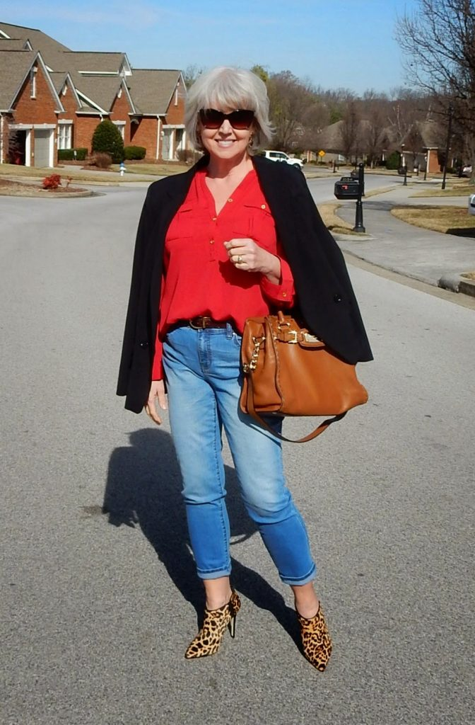 blazer and jeans - - fifty not frumpy