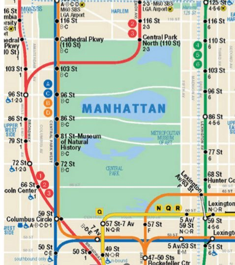 new york subway to central park
