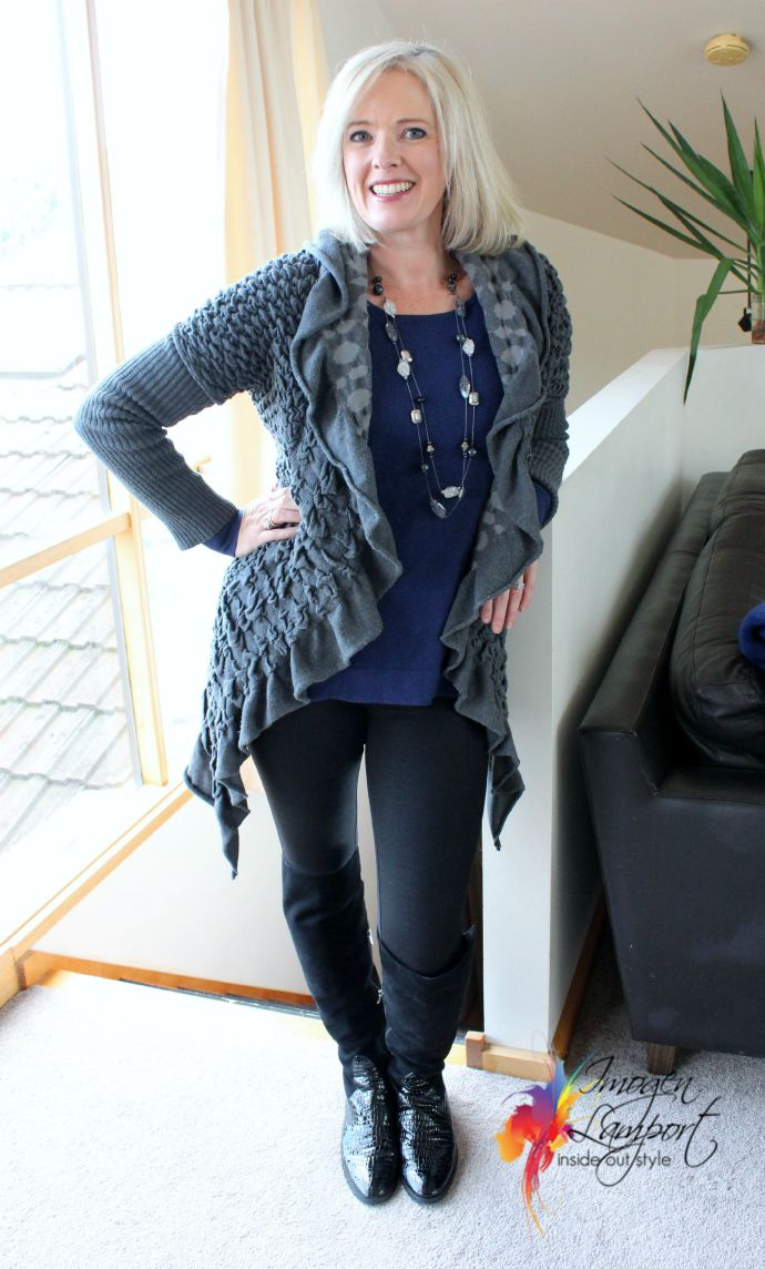 Winter layering with leggings
