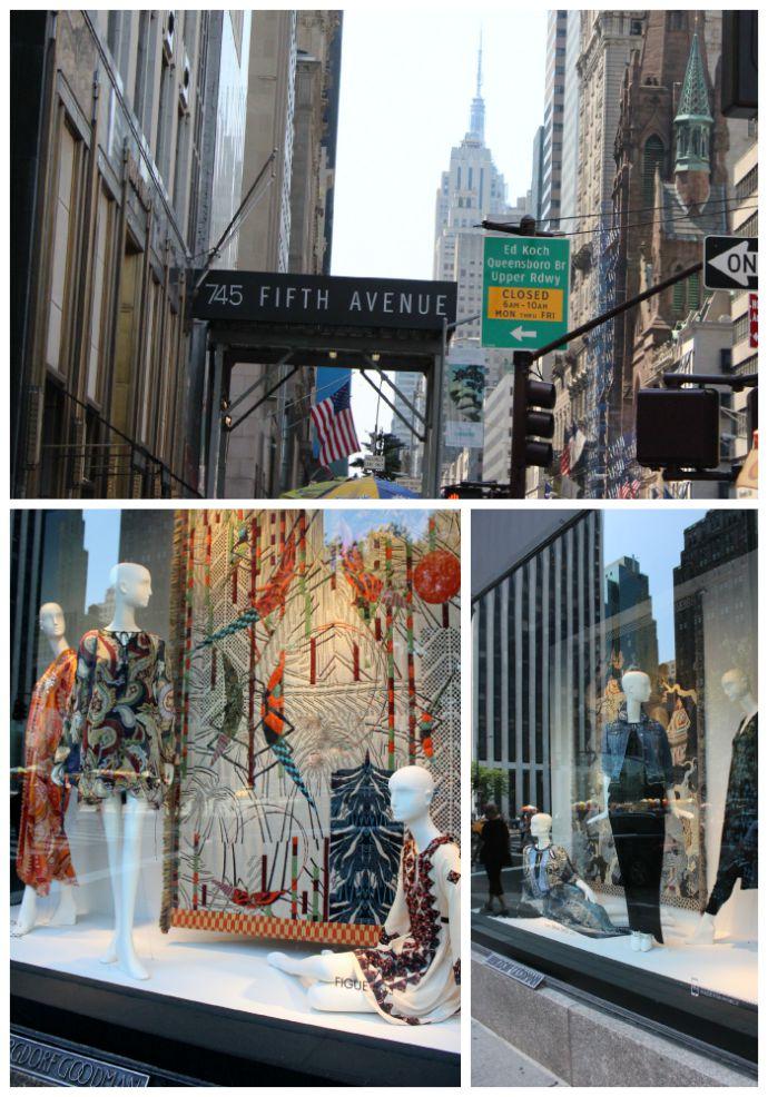 5th Avenue Shopping Bergdorf Goodman Windows